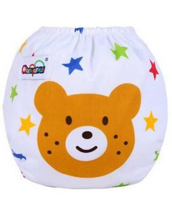 Washable & Adjustable Baby Diaper - Bear face