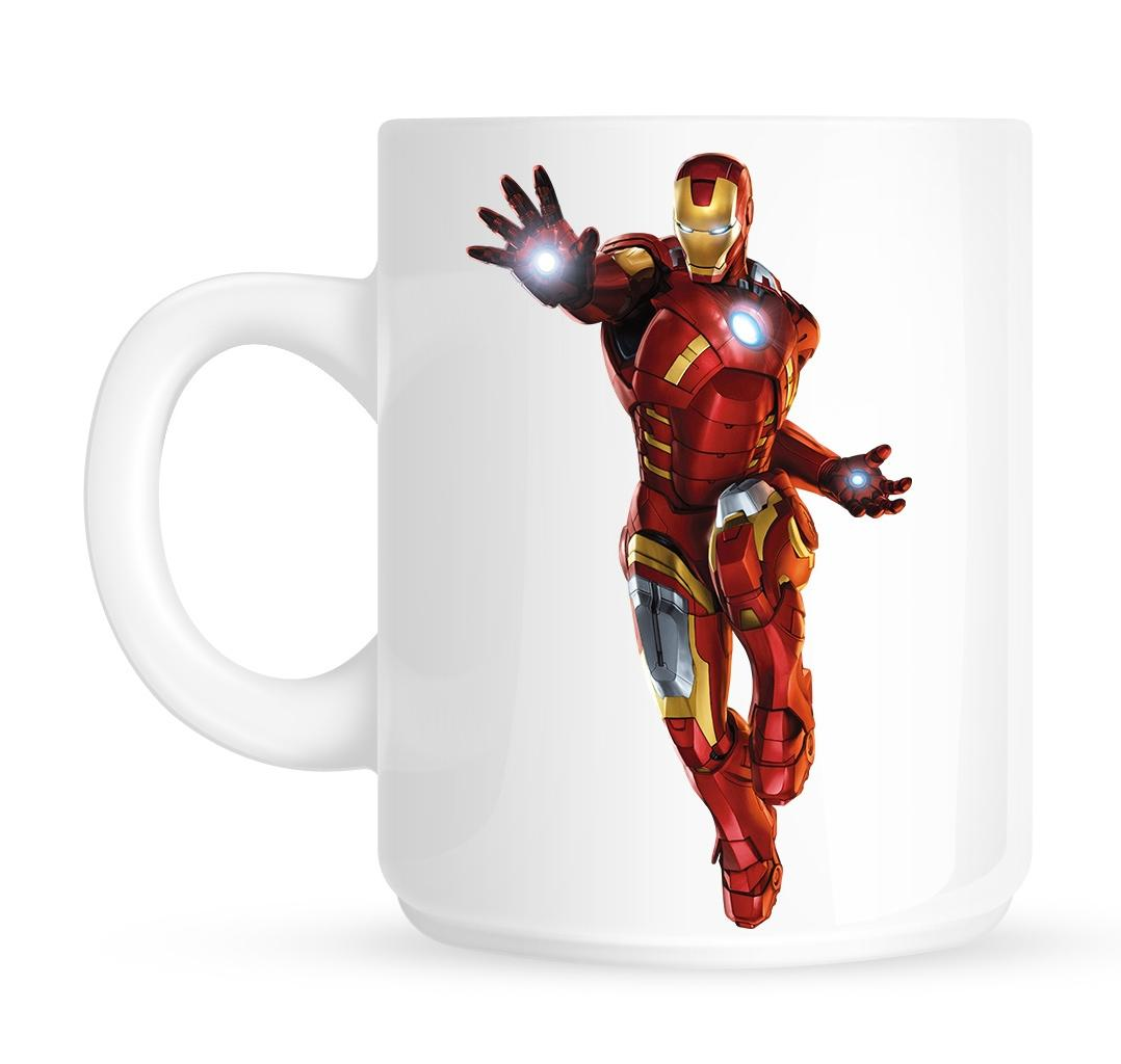Iron Man Ceramic Mug - White