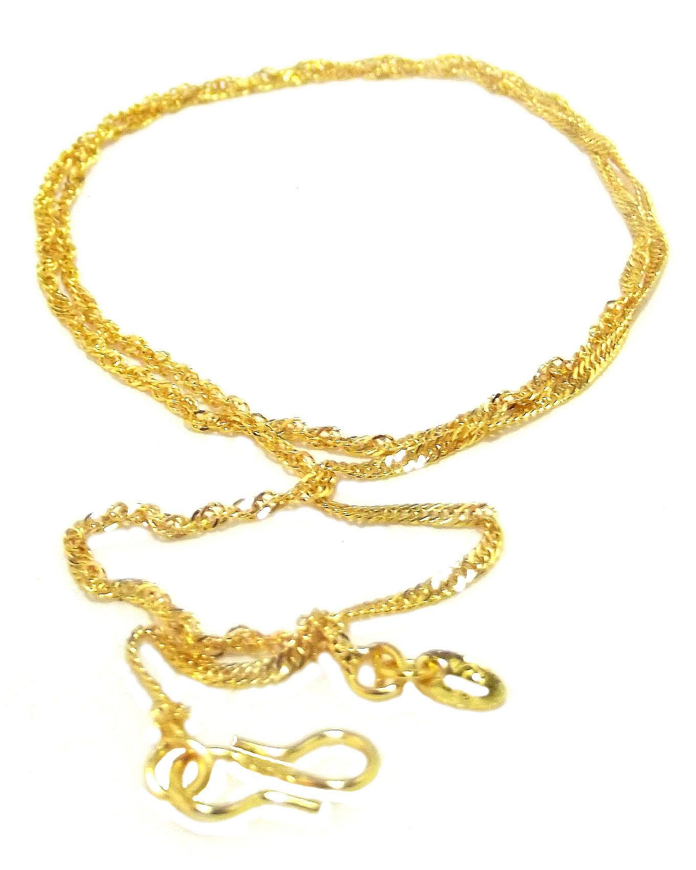 Men's Twirl 2 Gold Plated Chain Necklace