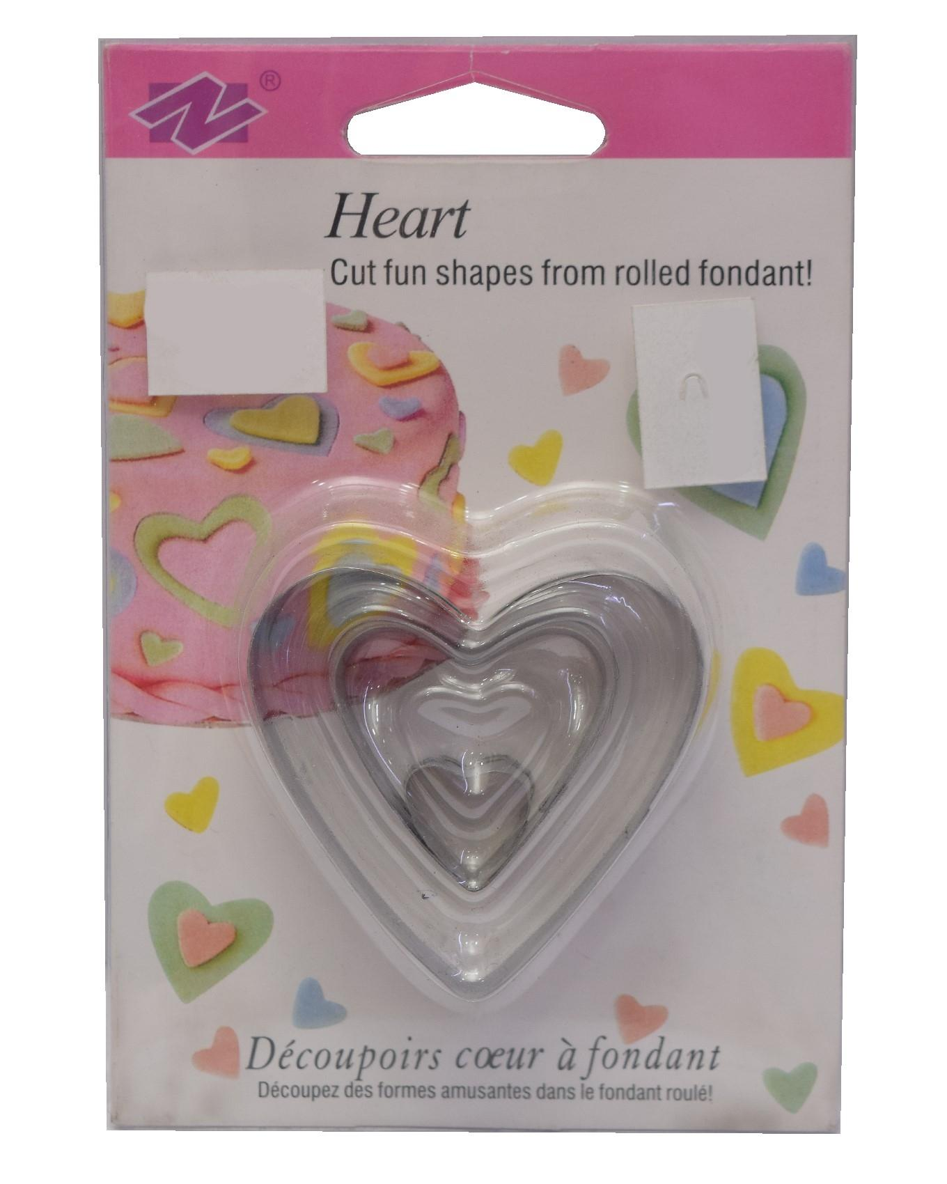 Heart Cut Fun Shapes From Rolled Fondant