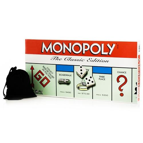 Monopoly Classic Edition with Coins and Cards