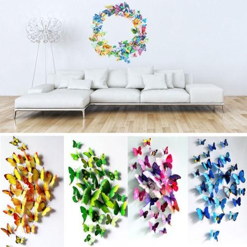 24 Pcs 3D Butterfly Wall Stickers