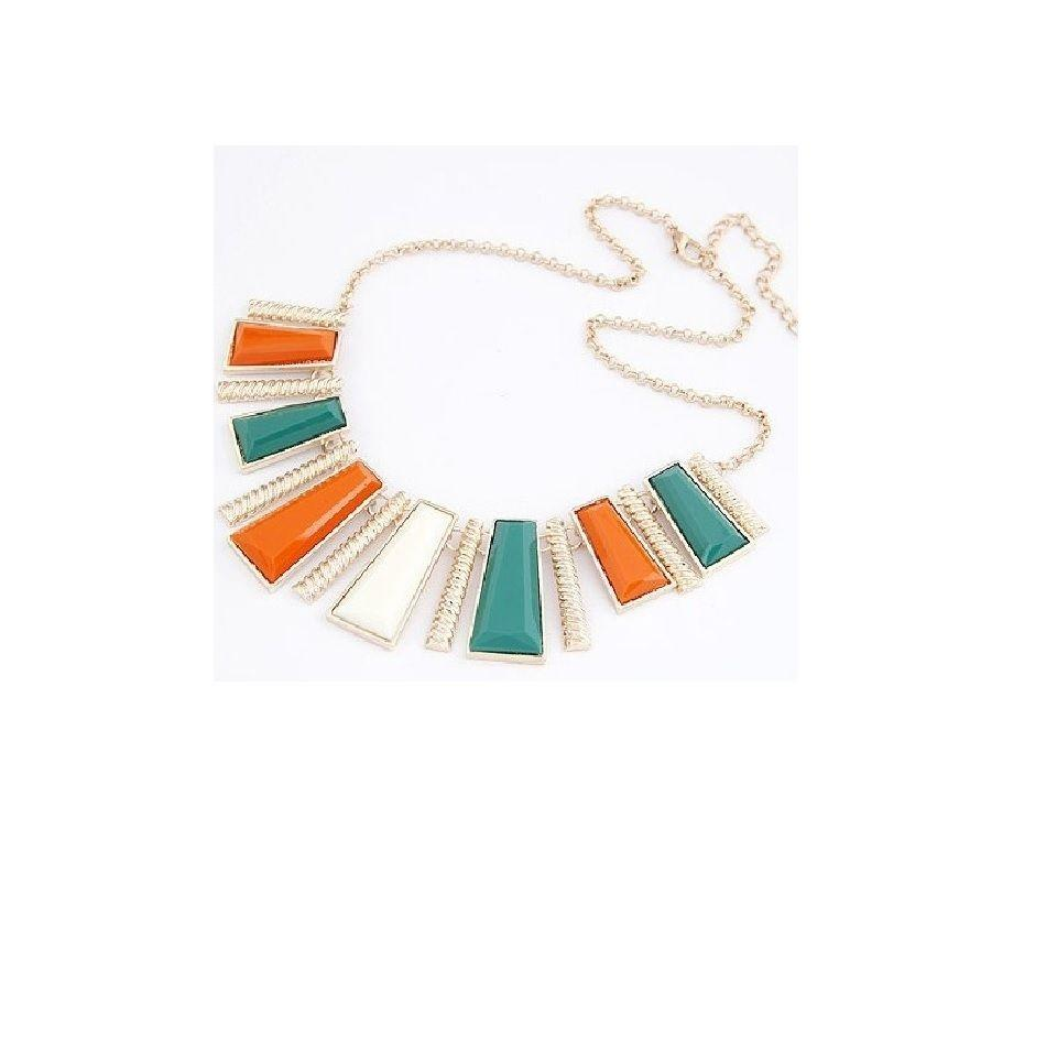 Women's Gold Plated Necklace - Multicolor