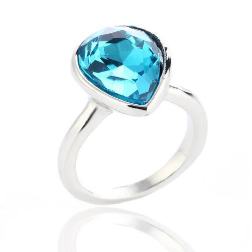 Women's Water Drop Rings - Blue