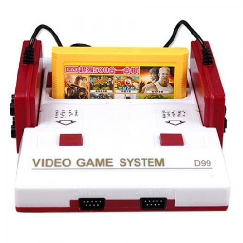 D99 Family PAL Format TV Video Game Console 8 Bit Handheld With 400 Different Games - Red + White