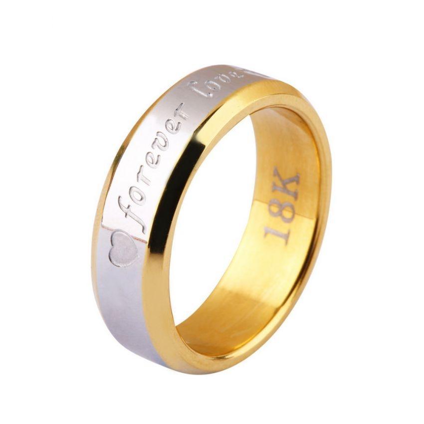 Men's Gold Plated Forever Love Ring