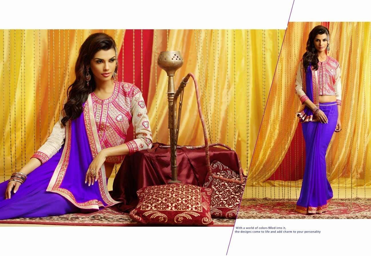 Women's Saroj Purple Saree