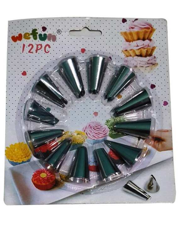 Cake Icing Nozzles Set 2 Pcs Nozzles - Silver