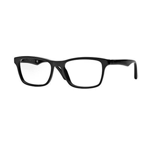 Men's Black Rectangular Wayfarer EyeGlass Frame