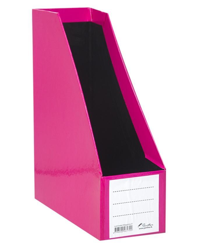 """Magazine Holder Laminated 4"""" - Pink"""