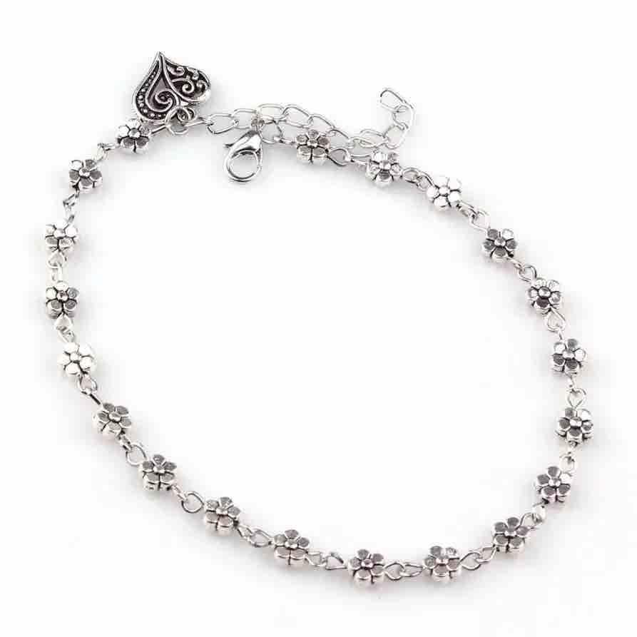 Women's Floral Ankle Bracelet