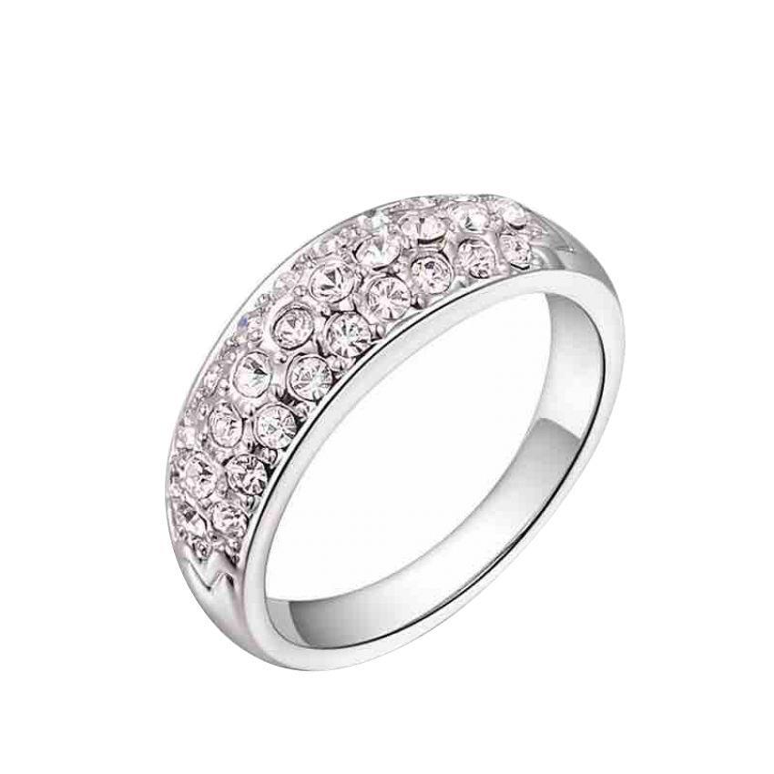 Women's Platinum Plated Ring