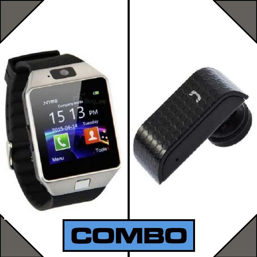 Combo of Smart Wrist Watch + Bluetooth Hands Free