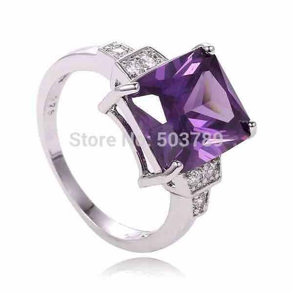 Women's Square Cubic Zirconia Ring - Size 7