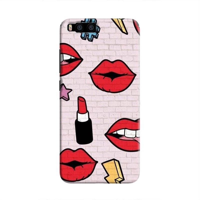 LipstickStickersWall Hard Case For Xiaomi Mi6