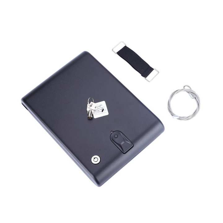 Car Safe Box Fingerprint Lock Jewelry Cash Storage Boxes Security With Wire