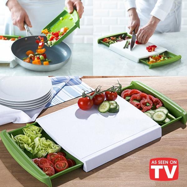 Chop & Clear Cutting Board