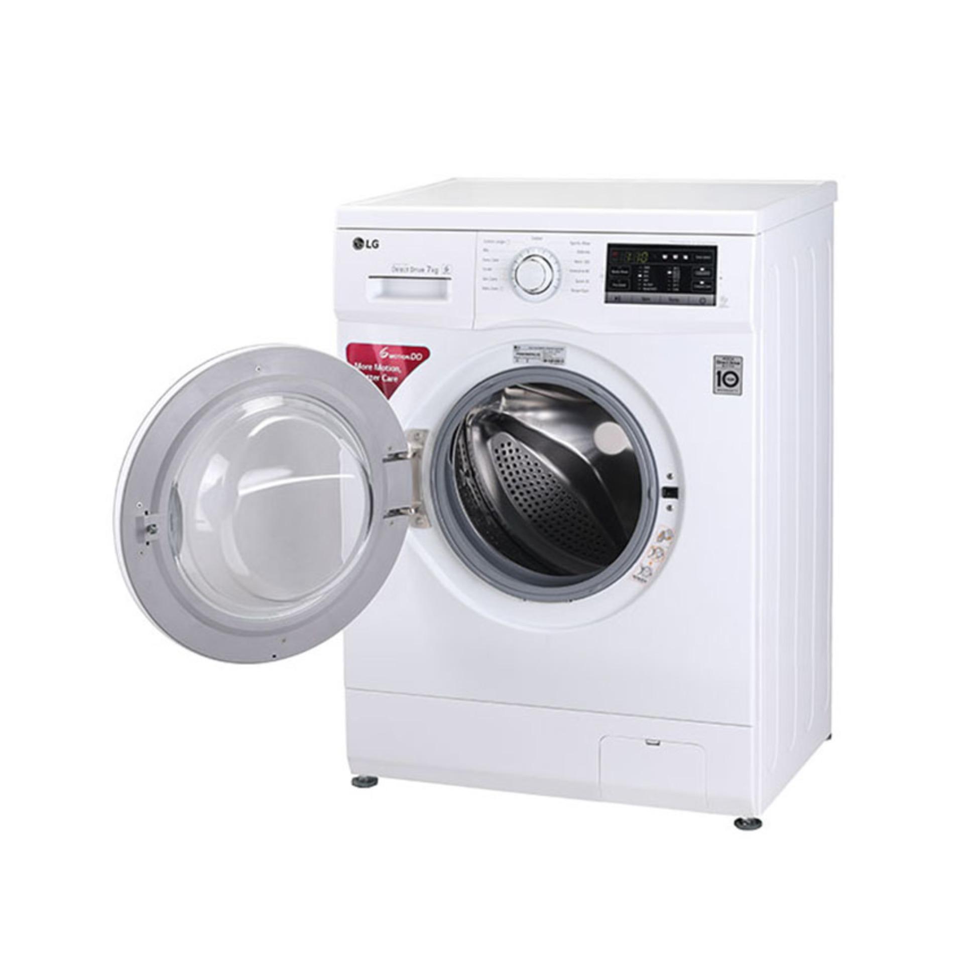 LG Washing Machine - 7Kg - White - F1207NMTW