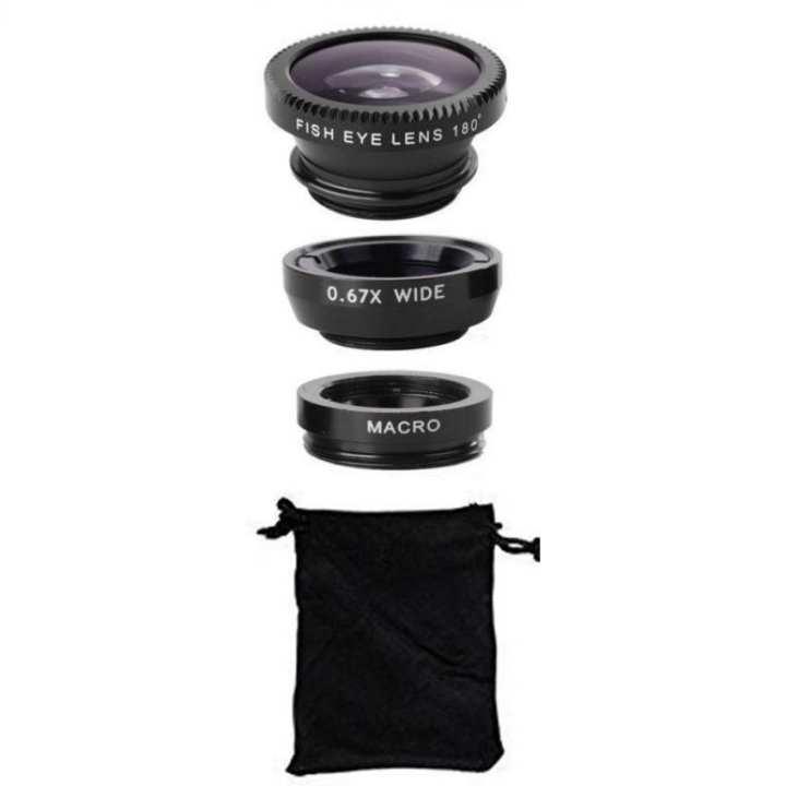 Fish Eye Macro Lens + Selfie Cam Lens