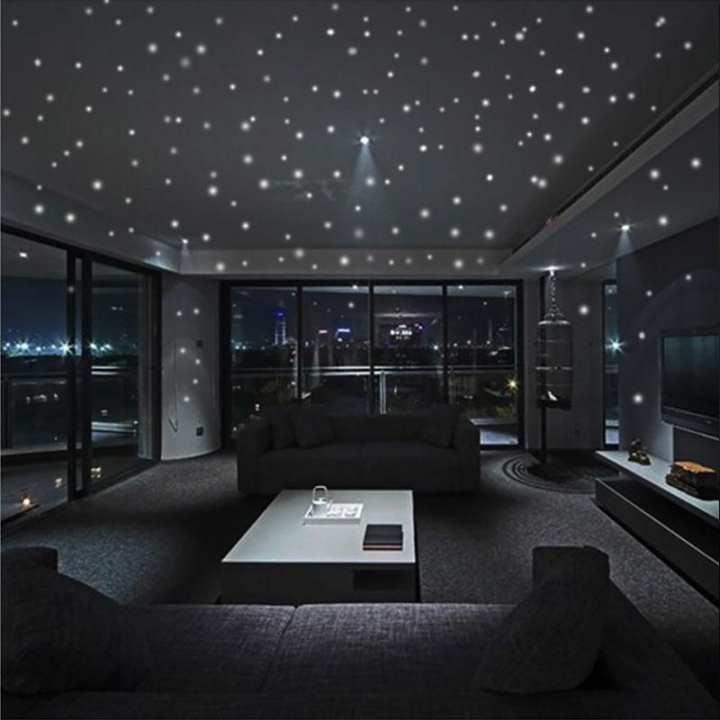 407pcs Glow in the Round Dot Dark Star Stickers Luminous Wall Stickers Kids Room