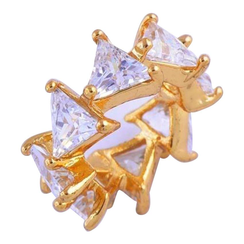 Women's Gold Plated White CZ Pendant