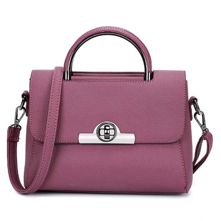Trend Korean Litchi Stria Leisure Messenger Bag All-Purpose Fashion Handbag Shoulder Square Bag - Russet-red