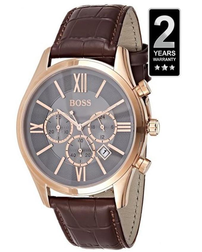 Men's Ambassador Brown Leather Watch - 1513198