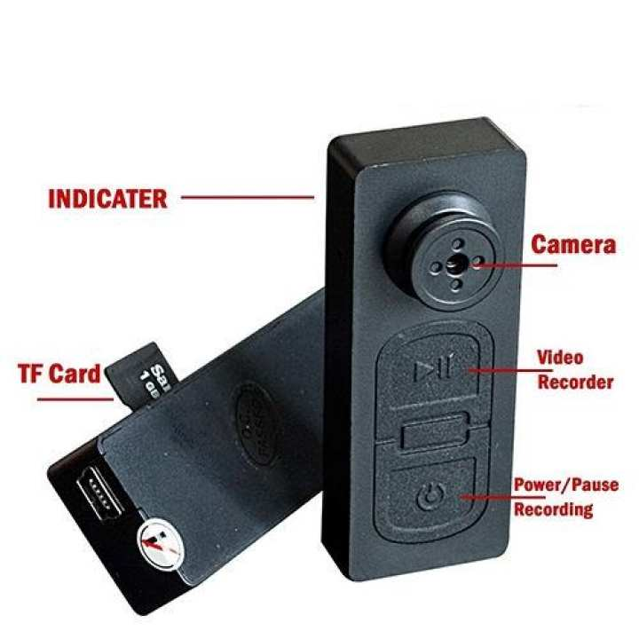 Button Spy Hidden Video DVR Camera 720HD 5MP