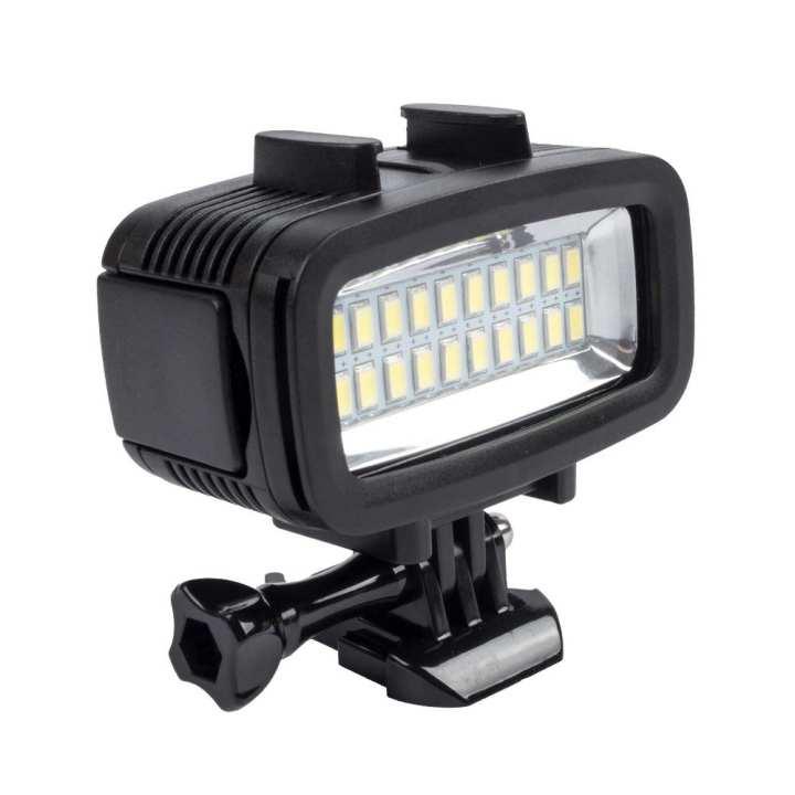 Ismartdigi i460 20-LED 40M Diving LED Light for Gopro Hero 2 3 3+ 4 Session 5 6 SJ4000 - Black