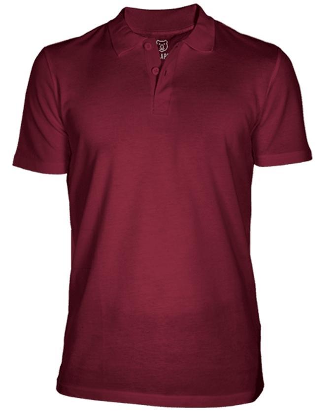 Bear Appeal Maroon Polo T-Shirt