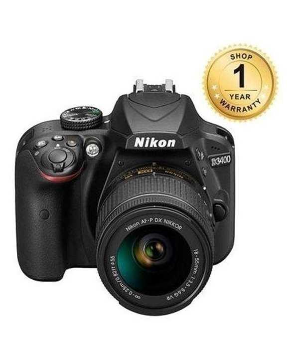 D3400 Dslr Camera With AF-P DX NIKKOR 18-55mm f/3.5-5.6G VR Lens