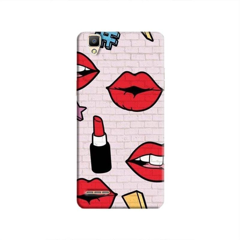 LipstickStickersWall Hard Case For Oppo F1