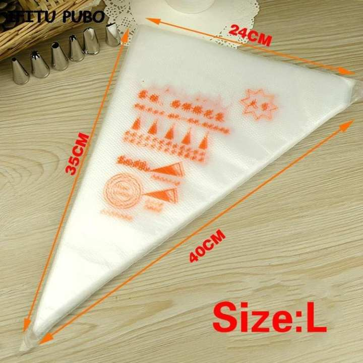 Cake Icing Bags 100 Pcs Small Size - Transparent