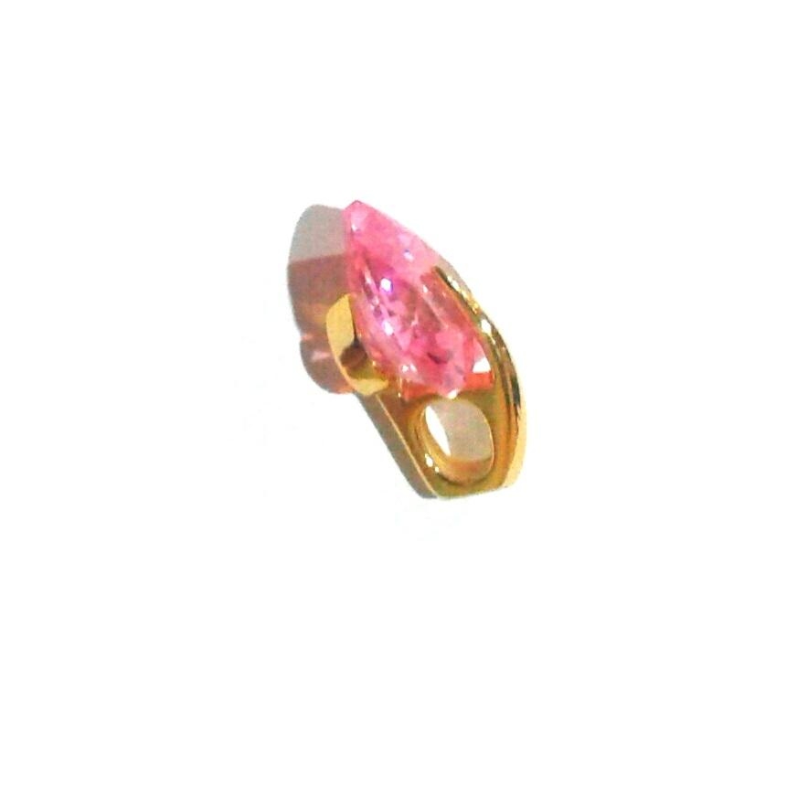 Women's Pink Cubic Zircon Heart Shape Durable Pendant