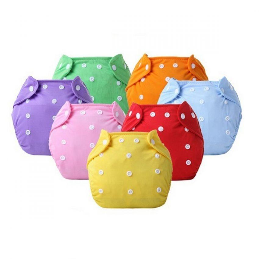 Pack of 5 Washable & Adjustable Baby Diapers