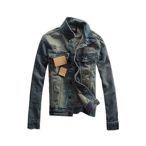 Bluelife Single-Breasted Slim Denim Jackets