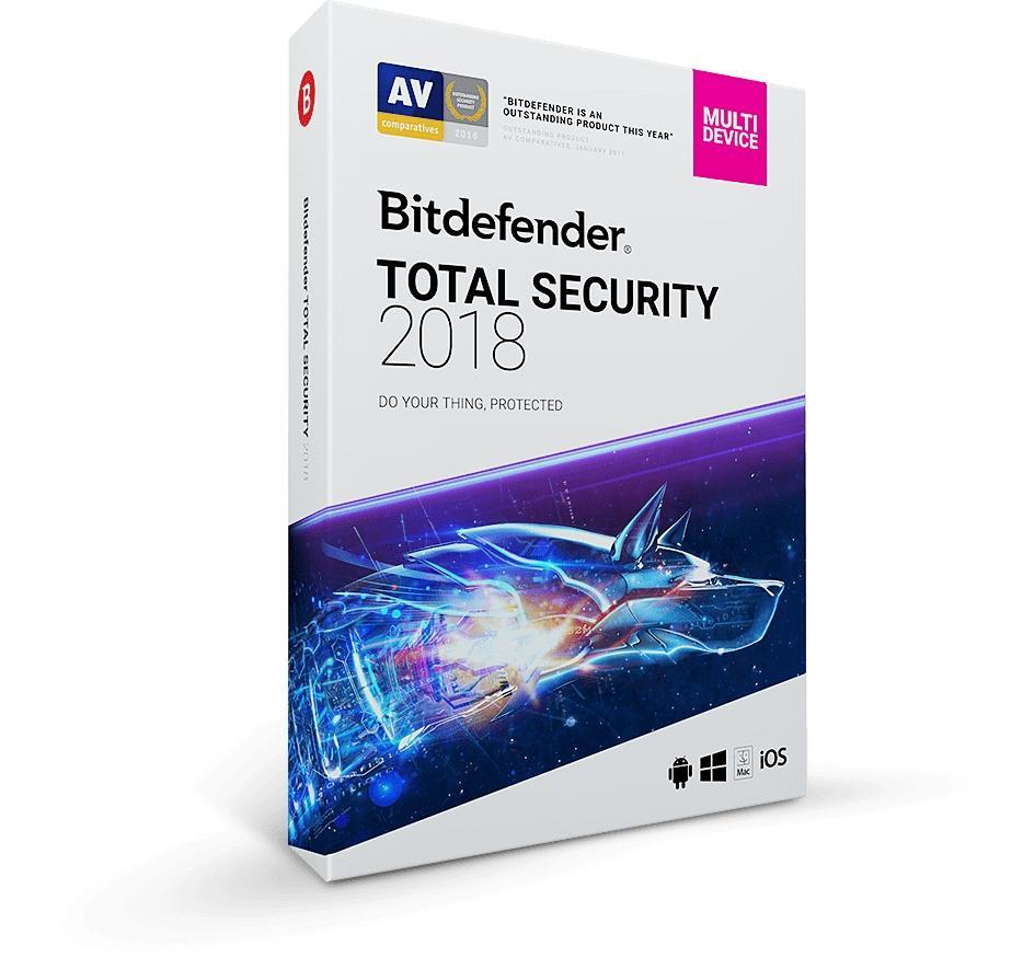 Bitdefender 2018 Total Security Anti Virus