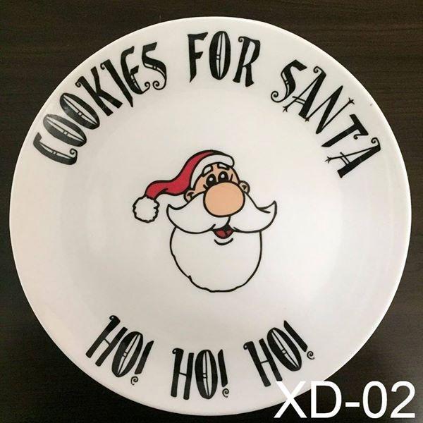 Printed Christmas Tree Plate