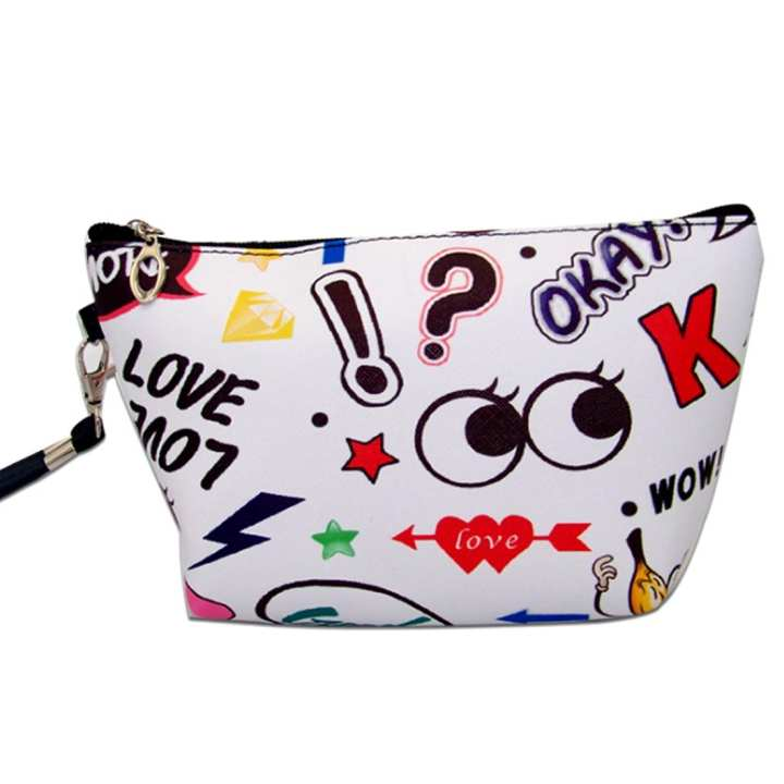 Fashionable Cartoon Print Handbag with Letter Pattern
