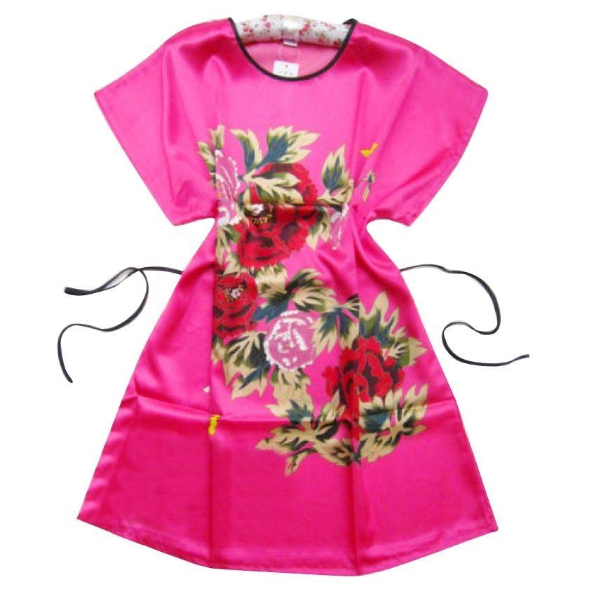 Women's Robe Lounge WDE1071 Dress - Pink