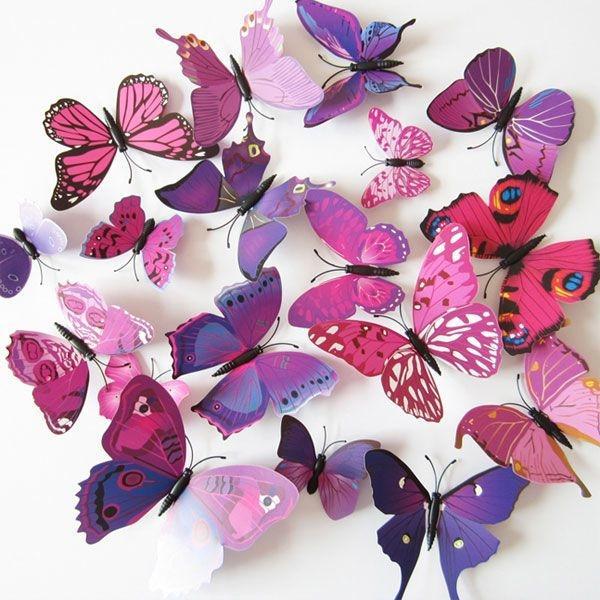 12 Pcs 3D Butterfly Wall Sticker