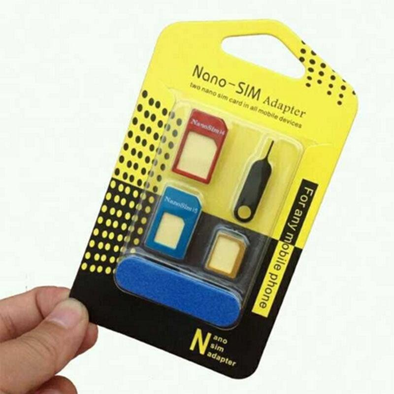 Combo Of Cleaning Kit + 5 in 1 Nano Sim Card Adapter Converter