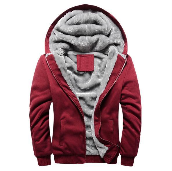 Bluelife Plush Lining Hoodies Cardigan Jacket Coat