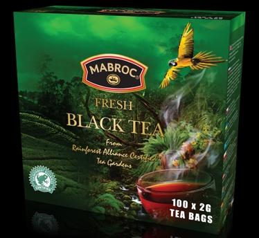 Mabroc 100 x 2g Rainforest Black Tea Bag