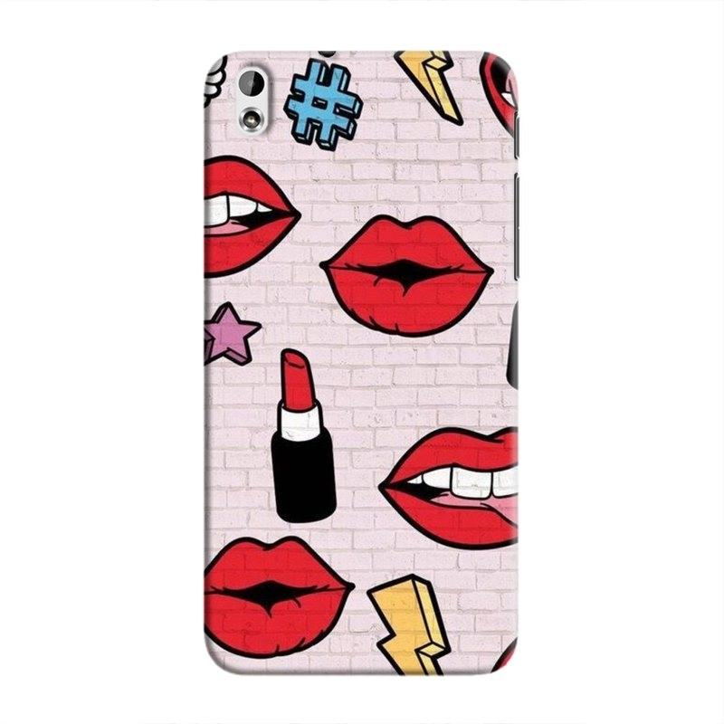 LipstickStickersWall Hard Case For HTC Desire 816