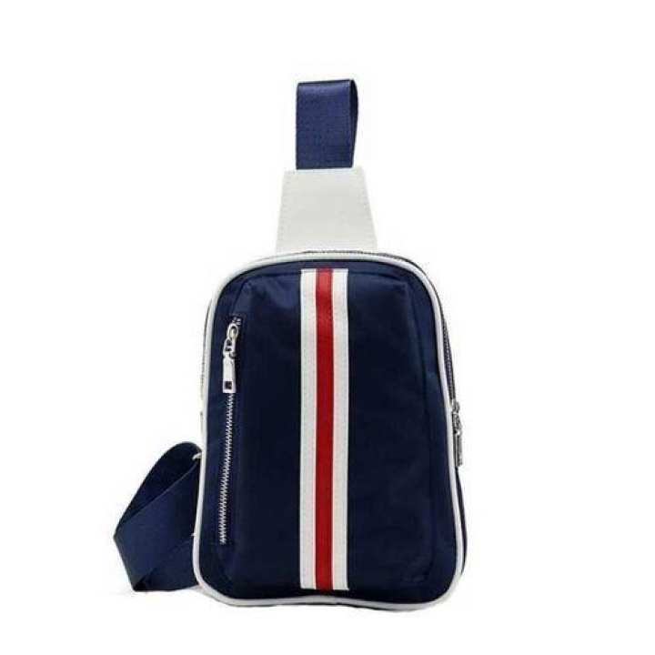 Men's Chest Pack Casual Sports Stripes Crossbody Shoulder Bag