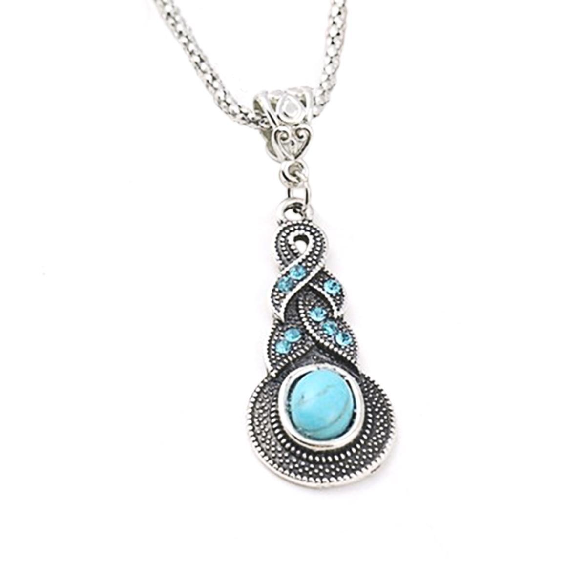 Women's Drop Blue Necklace