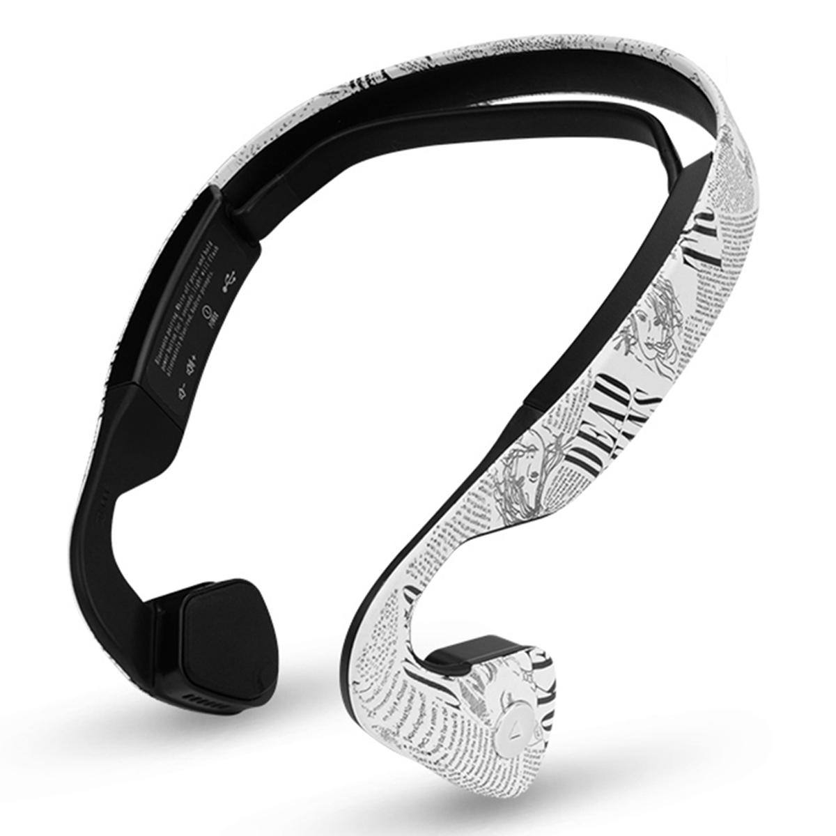 Cwxuan Conduction Bluetooth Stereo Sports Neckband Headphones - White