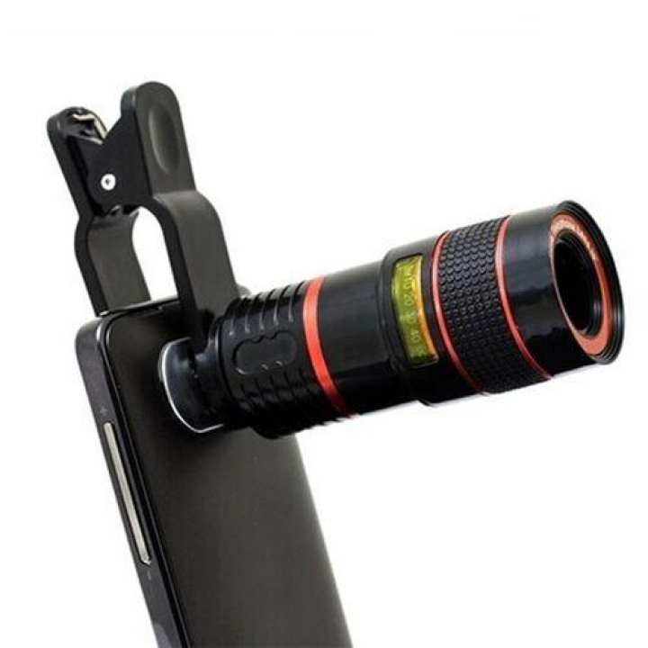 8X Zoom Camera Telescope Lens For Mobile Phones with Detachable Clip-on