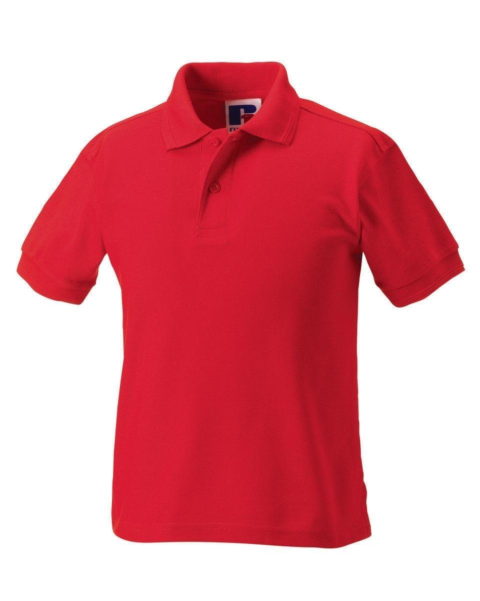 Men's Pure Cotton Plain Polo T Shirt-Red